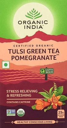 Organic India Tulsi Green Tea, Pomegranate