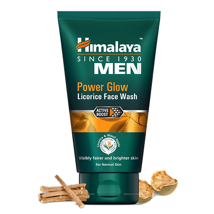 MEN POWER GLOW LICORICE Face Wash