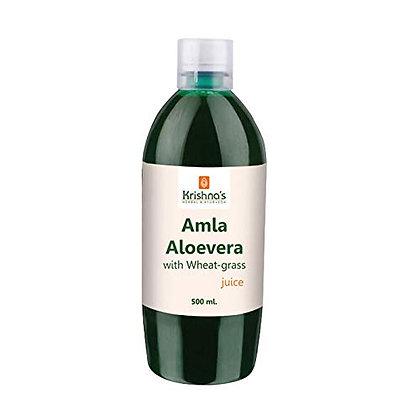 Amla Aloe Vera Wheat Grass Haldi Tulsi Juice