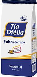 Farinha de Trigo Tipo 1 Tia Ofélia embalagem de 5kg, 15kg 50kg