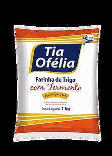 Farinha de Trigo com Fermento Tia Ofélia embalagem plástica 1kg