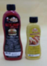 Catchup e Mostarda em pote de plástico com dosador marca Supra