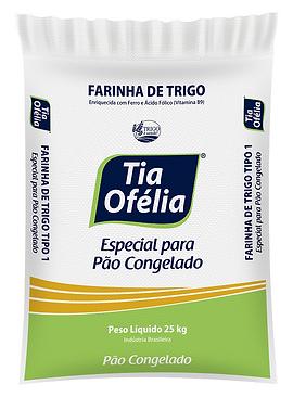 Farinha de Trigo Tia Ofélia Mistura Especial para Pão Francês Congelado 25kg