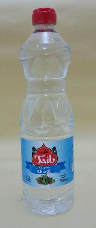 Vinagre de álcool Taib em garrafa plástica com dosador