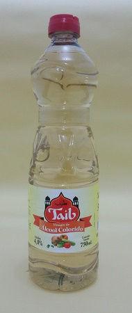 Vinagre de álcool colorido Taib em garrafa plástica com dosador