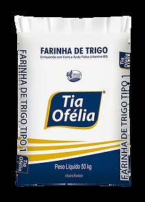 Farinha de Trigo Tipo 1 Tia Ofélia embalagem de 50kg