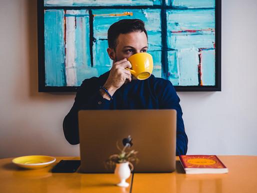 Treffen Sie sich in der digitalen Kaffeeküche