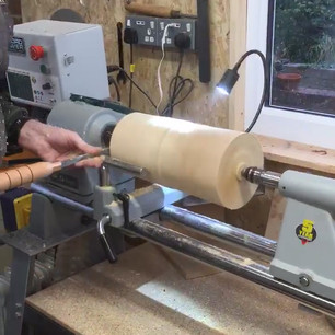 Making a Spalted Beech Vase