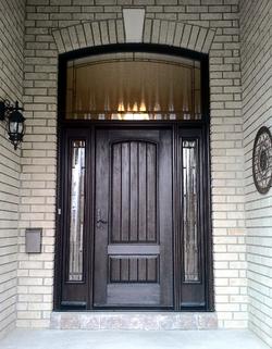 Fibreglass door