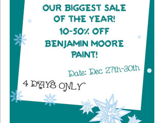 Boxing Day Paint Sale !