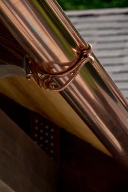 Half round copper eavestrough