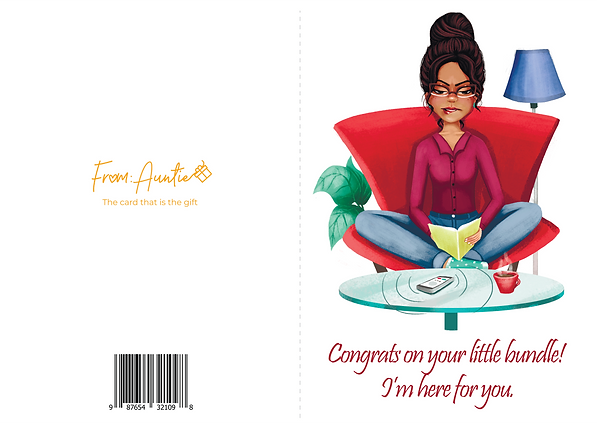 From Auntie Greeting Card