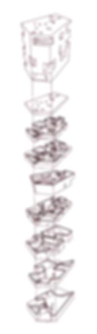 Lichtmaschine, Goethe, Archiektur, Axonometrie, Explosionsaxonometrie,