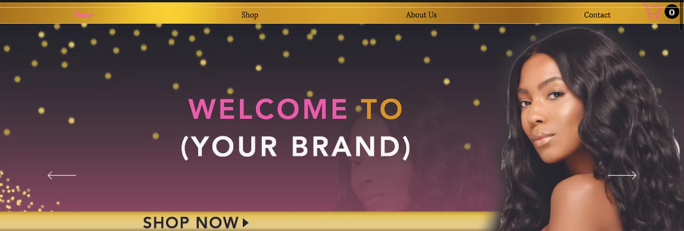Pre-Made Hair Company Website 2