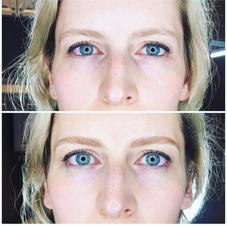 A request for a very soft, natural brow. Microblading with soft shading.