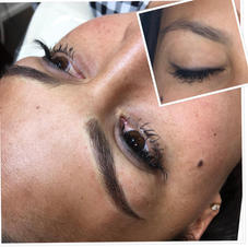 Microblading with dramatic shading.