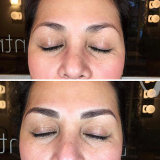 Very soft shading with some Microblading.