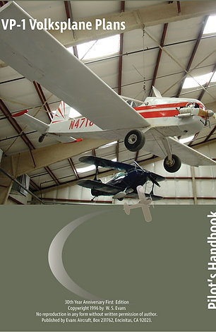Evans VP-1 Volksplane Plans & Pilot's Handbook Digital Version (PDF)
