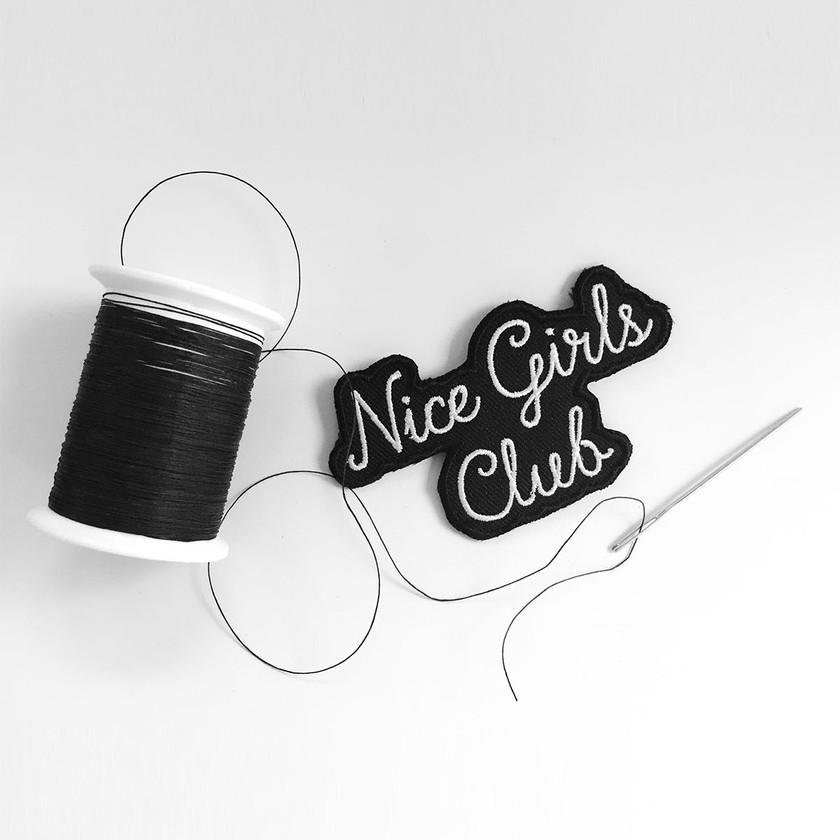 Nice Girls Club Iron On Patch