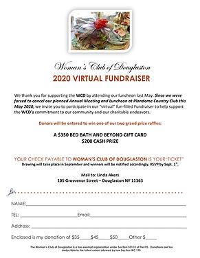 Virtual fundraiser MEMBER flyer word cop