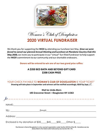 Virtual fundraiser MEMBER flyer word cop