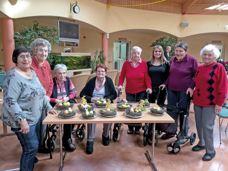 Gärtnergruppe im Seniorenhaus