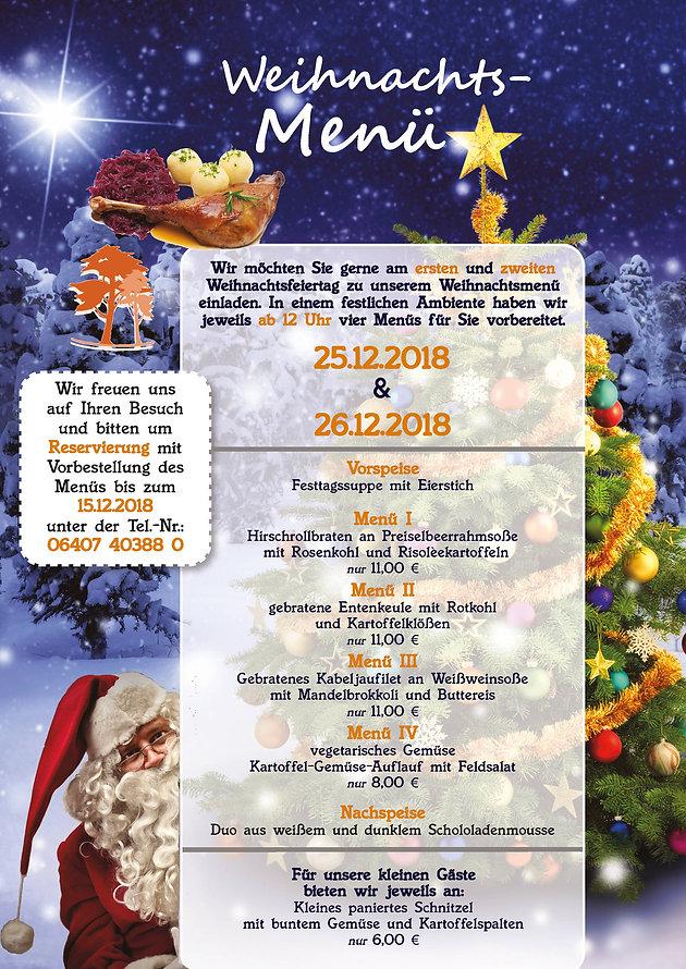 Weihnachtsessen 1 Weihnachtsfeiertag.Weihnachtsessen An Weihnachten Pflege Vogelsberg Rabenau