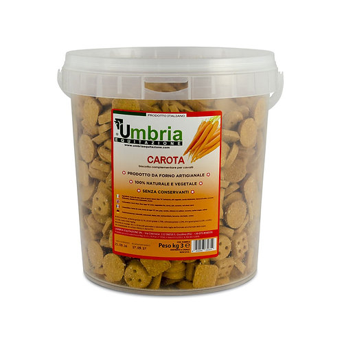 Biscoitos Cenoura 3kg UMBRIA EQUITAZIONE