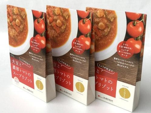 しょうが仕立て!!大豆と濃厚トマトのスープリゾット3ヶ入