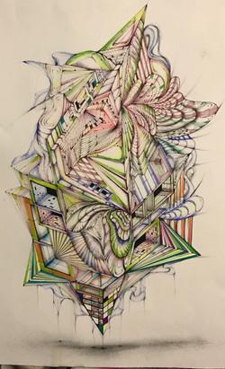 20_x30 Pen on watercolor paper