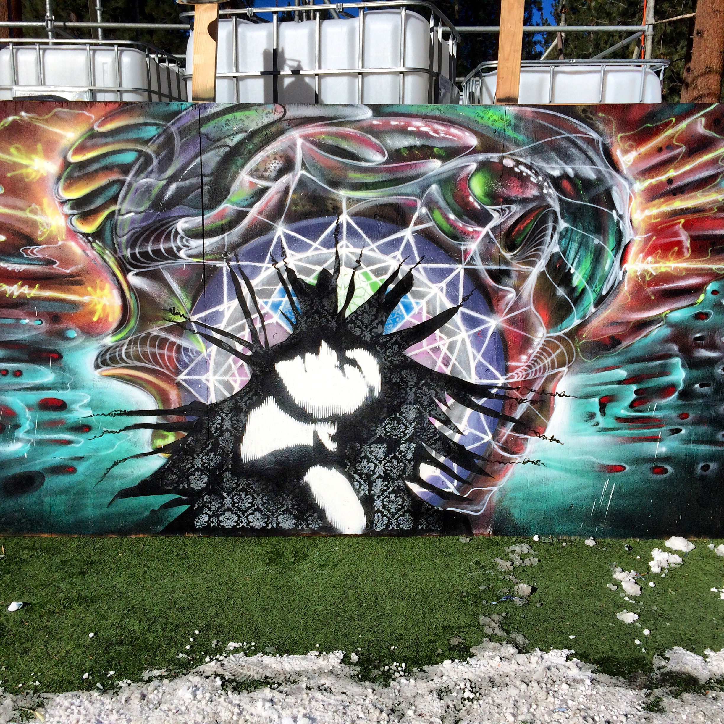 Snowglobe collab wall with Strider P