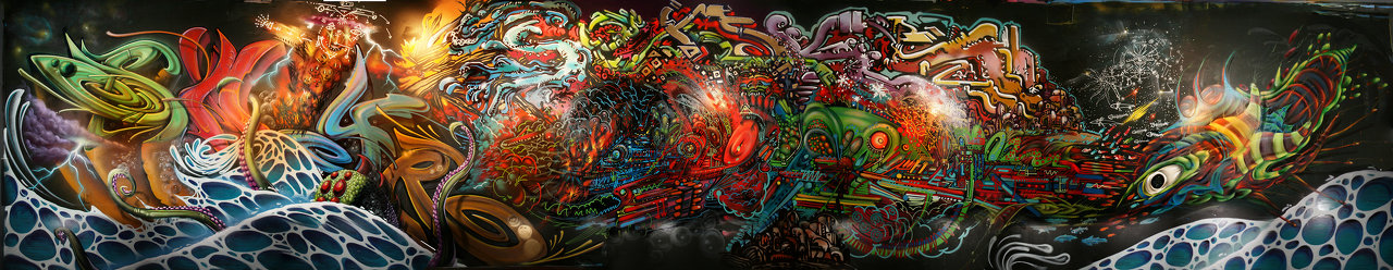 Elemental wall at Element Lounge