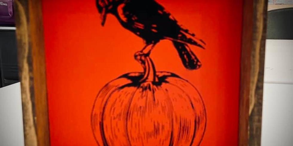 Halloween Stencil Paint Workshop