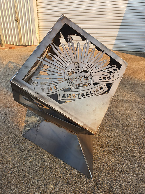 Australian Army Cube Firpit