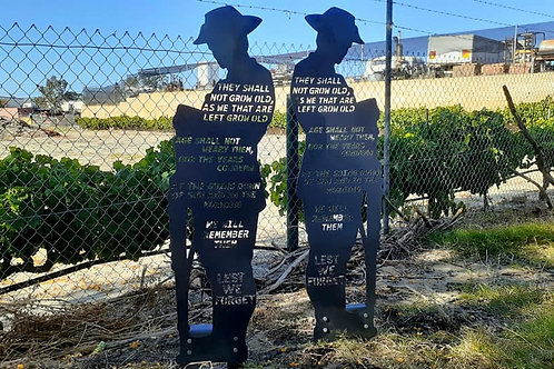 ODE Anzac Soliders (1.2 Metres Tall)