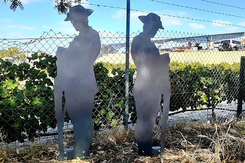 Anzac Solider Metal Silhouette (1 Metre Tall)