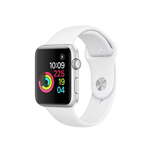 Apple Watch Series 3 Cassa color argento con cinturino Sport bianco