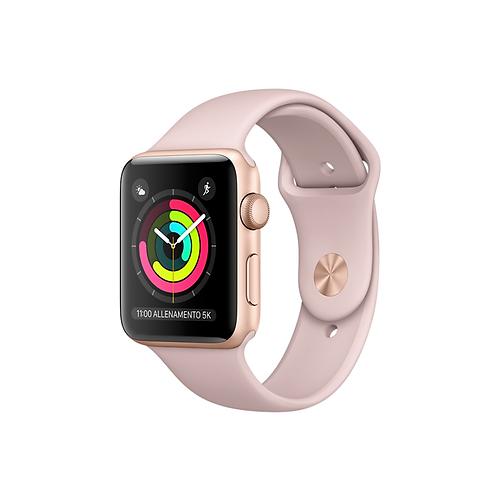 Apple Watch Series 3 Cassa in alluminio color oro con cinturino Sport  rosa