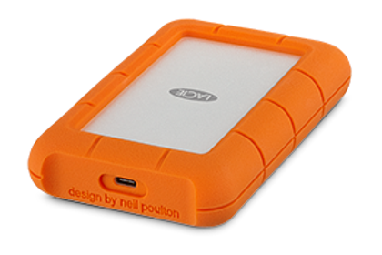 LaCie Rugged Drive USB-C con capacità da 1TB fino a 5 TB e Velocità 130MB/s