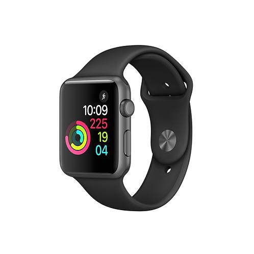 Apple Watch Series 3 Cassa color siderale con cinturino Sport nero