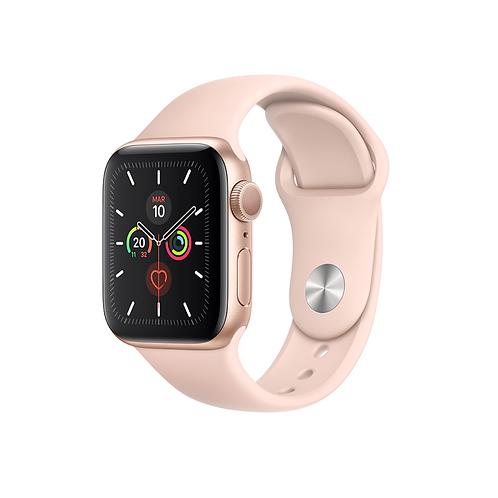 Apple Watch Series 5 Cassa alluminio oro con cinturino Sport rosa