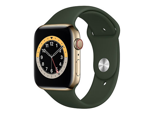 Apple Watch Series 6 Cassa acciaio cinturino Sport