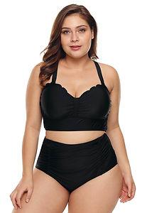 Bee-black-womens-swimmers-swimwear-togs-