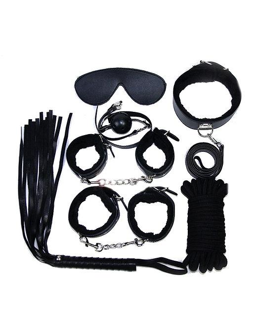 Black bondage sex toy set