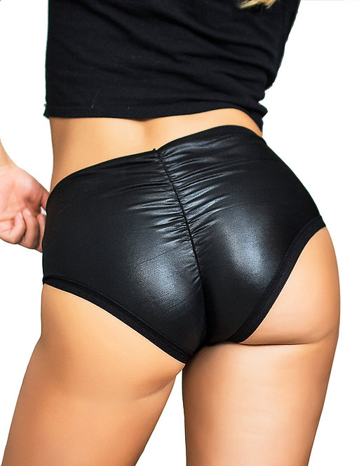 Sexy faux leather plus size underwear lingerie
