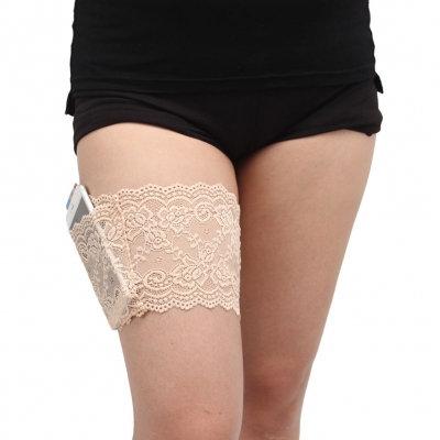 Sexy nude lace plus size lingerie garter belt