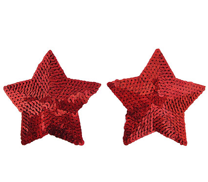 Sexy red star nipple covers in Australian plus size lingerie boutique