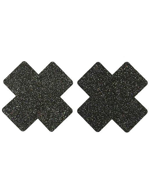 Sexy black cross nipple covers in Australian plus size lingerie boutique
