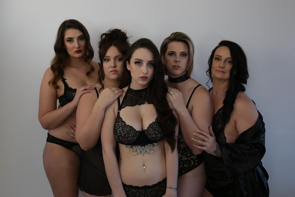 Models wearing plus size lingerie in Australia