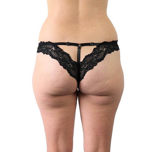 Sexy black strappy lace plus size lingerie underwear